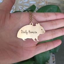 купить Latest High Quality Copper Unisex Jewelry Gold Hamster Charm Necklace Personalized Names Or Letters Dropship Accepted  YP0089 дешево
