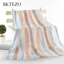 SKTEZO wholesale cotton bamboo fiber summer childrens blanket new cartoon 110*110 bath towel
