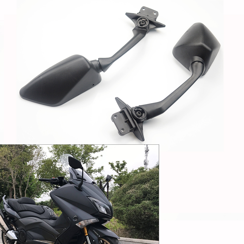Rearview Mirrors Side For Yamaha TMAX 530 Rear view mirror View Side Mirror T MAX 530 TMAX530 2012 2013 2014-in Side Mirrors & Accessories from Automobiles & Motorcycles