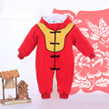 2016 Winter Padded Cotton Rompers christmas red newborn baby boy clothes new year baby girl clothing for newborns bebes outfits