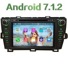 "2GB RAM 8"" Android 7.1 Quad Core 4G SWC BT Wifi Multimedia Car DVD Player Stereo Radio GPS Navi for Toyota Prius RHD 2009-2015"