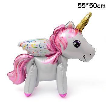 1PC 100*97CM Pink Horse Little Pony Unicorn Foil Balloons Helium Balloon Kids Toys Wedding Birthday Animal Party Decor Supplies 34