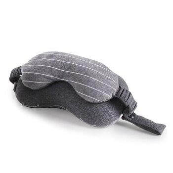 XC USHIO 2020 nouveau 2 en 1 gris voyage cou oreiller masque pour les yeux et