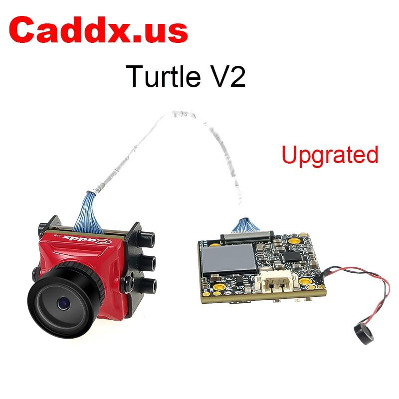 Caddx เต่า V2 800TVL 1.8 มม.1080 p 60fps NTSC/PAL HD กล้อง Mini FPV w/DVR สีแดงสีดำสำหรับ FPV Drone รุ่น Multicopter-ใน ชิ้นส่วนและอุปกรณ์เสริม จาก ของเล่นและงานอดิเรก บน   1