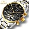 Kinyued New Number Sport Design Bezel Golden Watch Mens Watches Top Brand Luxury Montre Homme Clock