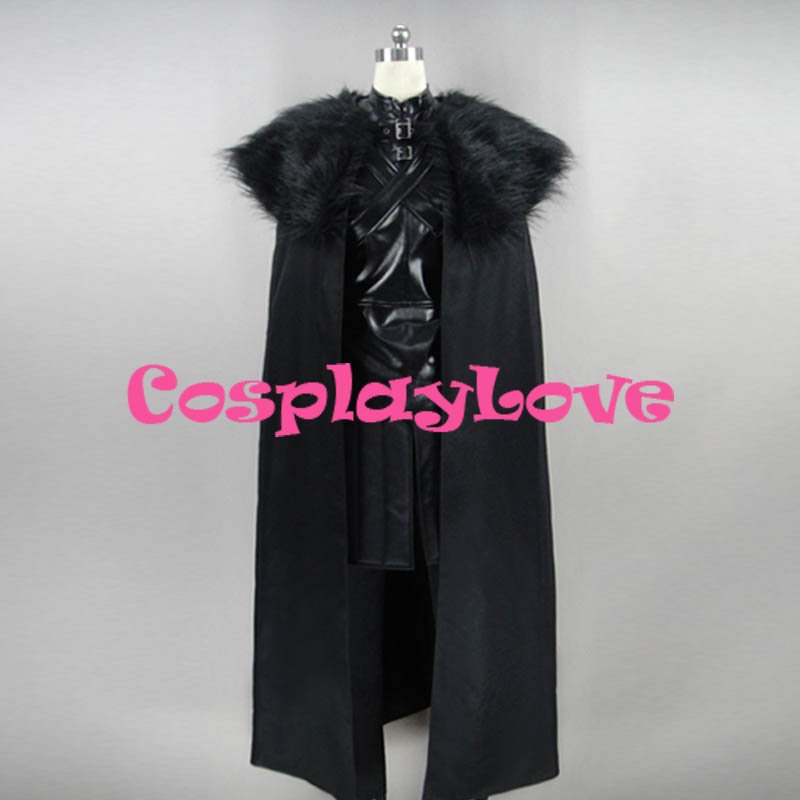 Game of Thrones Jon Snow Cosplay Costume Custom Made Women Man CosplayLove For Christmas Halloween