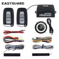 EASYGUARD keyless entry system start stop pke car alarm system start stop button car central lock auto alarm remote engine start