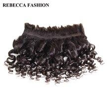 Ребекка бразильского Remy свободная волна массового человеческие волосы для плетения 1/3/4 Комплект ; набор из 10-30 дюймов без Weft волосы для наращивания на заколках
