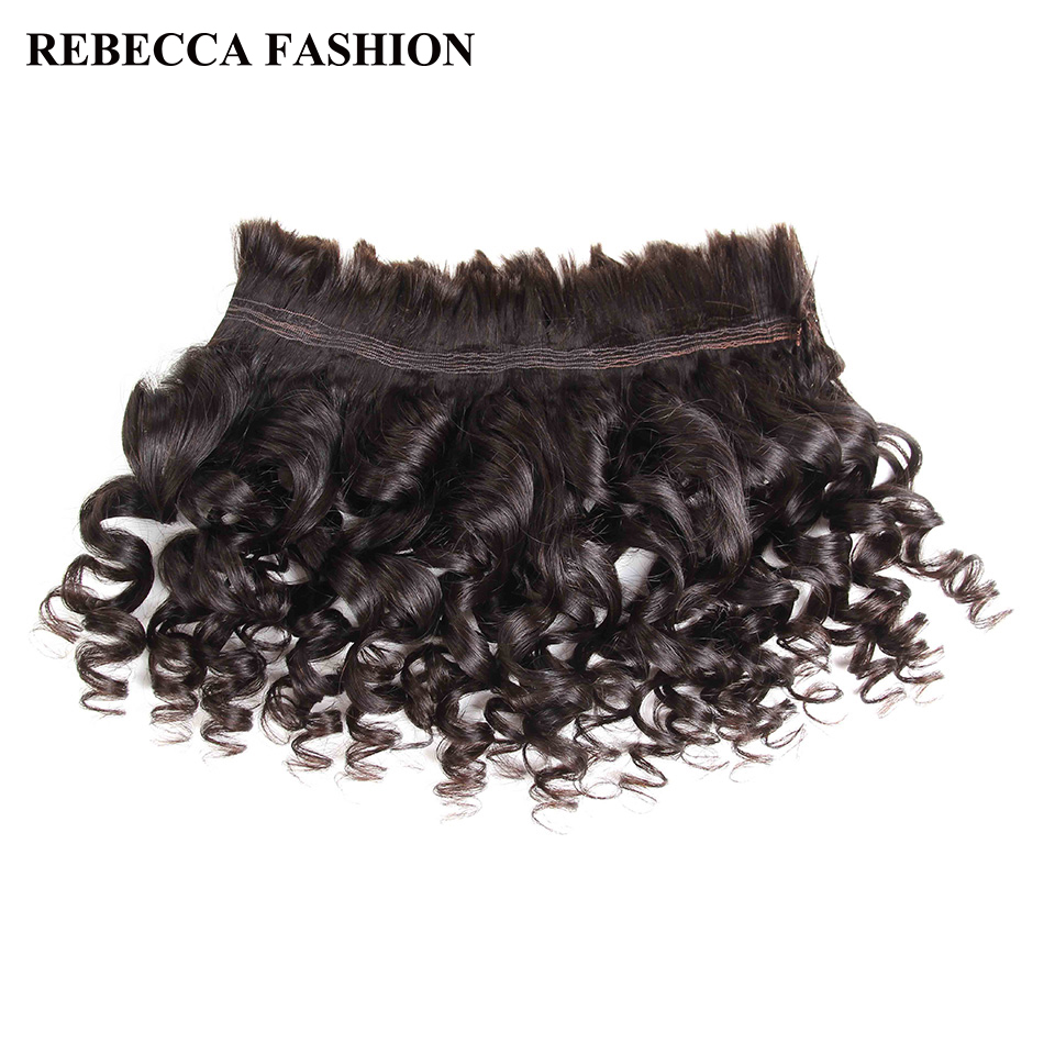 Rebecca Brazilian Remy Loose Wave Bulk Human Hair For Braiding 1/3/4 Bundle Free Shipping 10 To 30 Inch No Weft Hair Extensions