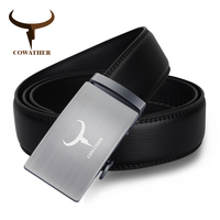 COWATHER 2017 Male Belt High Quality Automatic Buckle 100 Cow Genuine Leather Belts For Men Good
