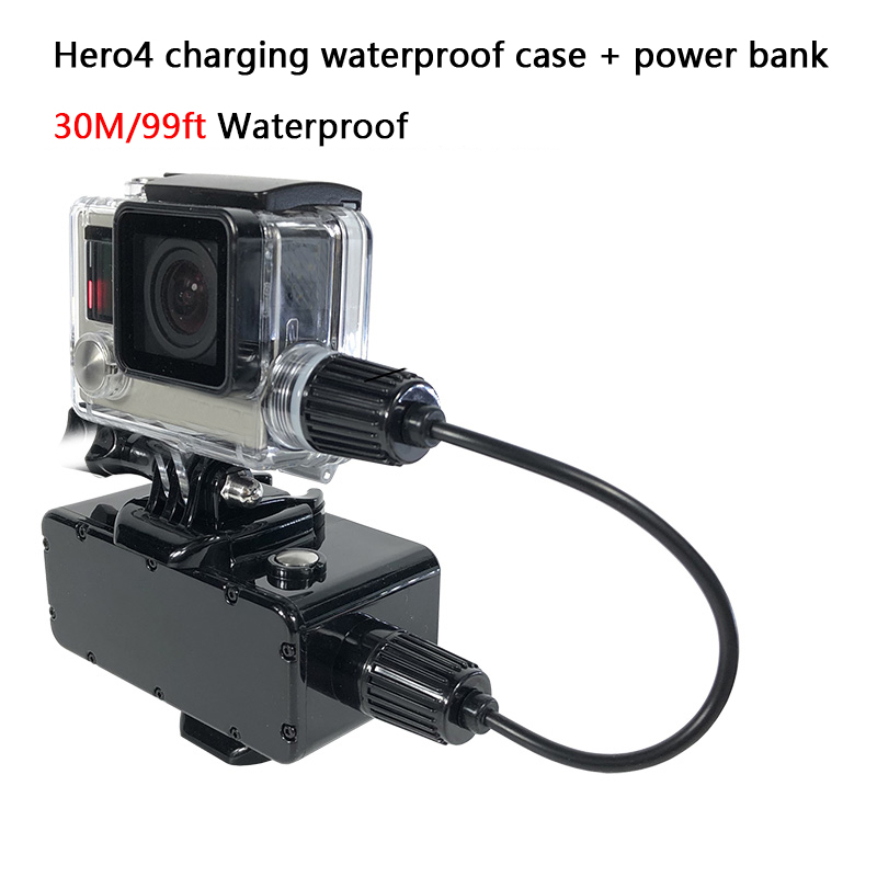 Image 4 - 5200mAh Power Bank 30M Waterproof External Battery Bank for GoPro Hero 7/6/5/4/3+/3 Xiaomi Yi 4K SJCAM Action Camera Accessories-in Sports Camcorder Cases from Consumer Electronics