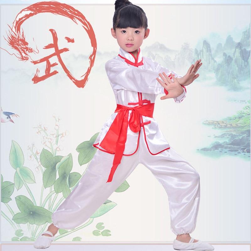 Children Wushu Sets Girl Boy Chinese Traditional Kung Fu Uniform Kids Tai Chi Clothes 3 Colors Taiji Clothing