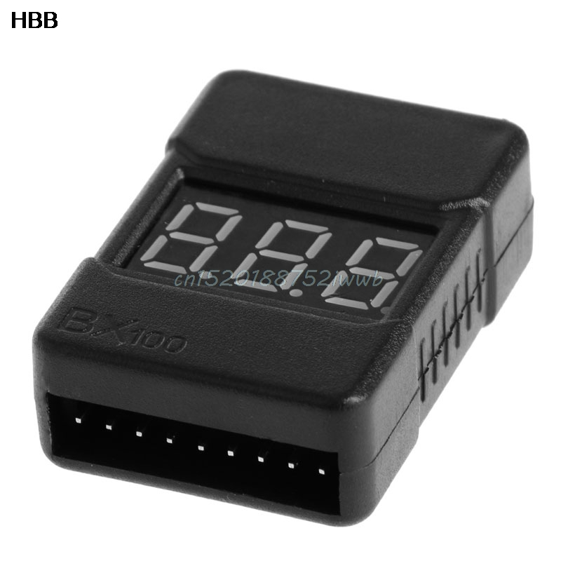 BX100 1-8S Lipo Battery Low Voltage Power Display Tester Buzzer Alarm #T026# vm006 1 6s lipo battery accurate battery voltage meter lcd liquid crystal display alarm