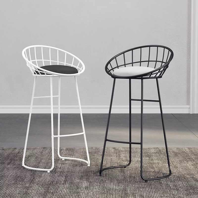 Nordic кованого железа бар барный стул творческий дом мебель кофе обеденный стул