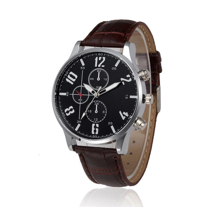 2017 Men Watch Retro Design Leather Band Analog Alloy Quartz Wrist Watch 2017 luxury brand blue shope 30%