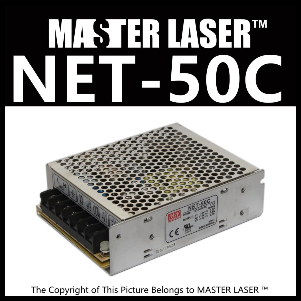 Laser Cutting Marking Engraving Machine DIY Parts MeanWell MW NET-50C 50W  Power Supply Switching Switch Power Supply 10 6 um co2 laser cutting machine diy parts 40w 60w 80 100w 130w 150w laser tube laser power supply fix tools