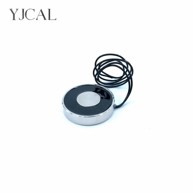 YJ-38/8 Holding Electric Sucker Electromagnet Magnet Dc 12V 24V Suction-cup Cylindrical Lifting 15KG Gallium Metal China