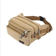 Hohe Qualität 2017 Mode Lässig Leinwand Messenger Bags Taille Packs Geldbörse Männer Tragbare Vintage Männer Taille Taschen Reise Gürtel Brieftaschen