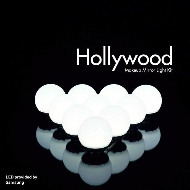 Hollywood Makeup Mirror Vanity Led Light Bulbs Kit Cosmetic Lighted