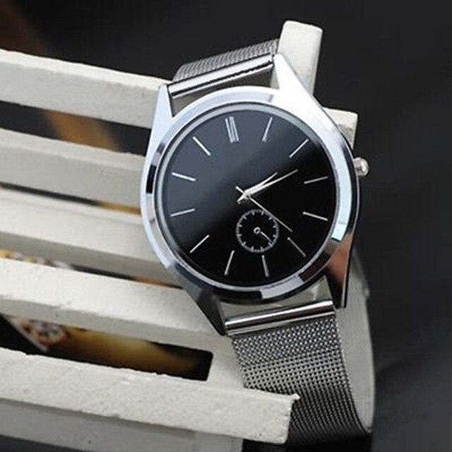 Fashion Men Women Watch Stainless Steel Band Quartz Wrist Watches Relogio Mascul