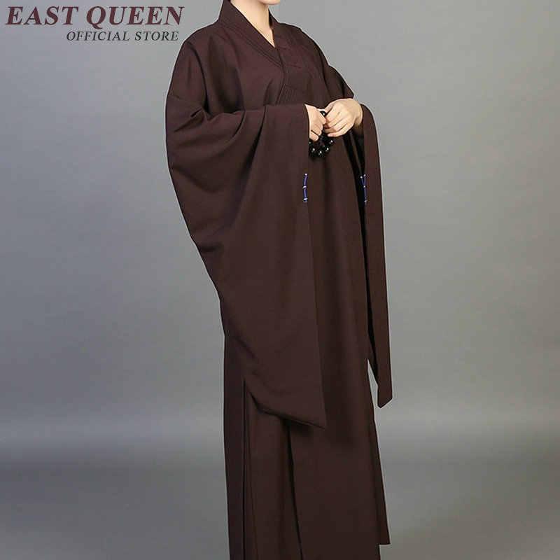 僧侶のローブ服衣装少林寺の僧の服僧侶服制服瞑想服 NN0550 C