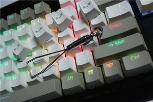 Image 4 - MP 108/87 מפתחות Translucidus תאורה אחורית PBT Keycap עבור Corsair לבזוק K65 K70 Logitech G710 + Wired USB מכאני מקלדת Keycap