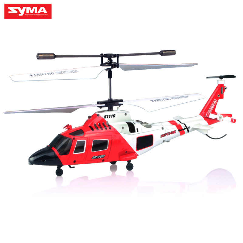 Image 3 - 100% Original SYMA S111G Military RC Helicopter With Night Light Mini Drone Easy Control  Aircraft with Gyro Toys Gift Funny-in RC Helicopters from Toys & Hobbies