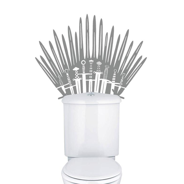 Iron Throne Toilet Removable Wall Sticker