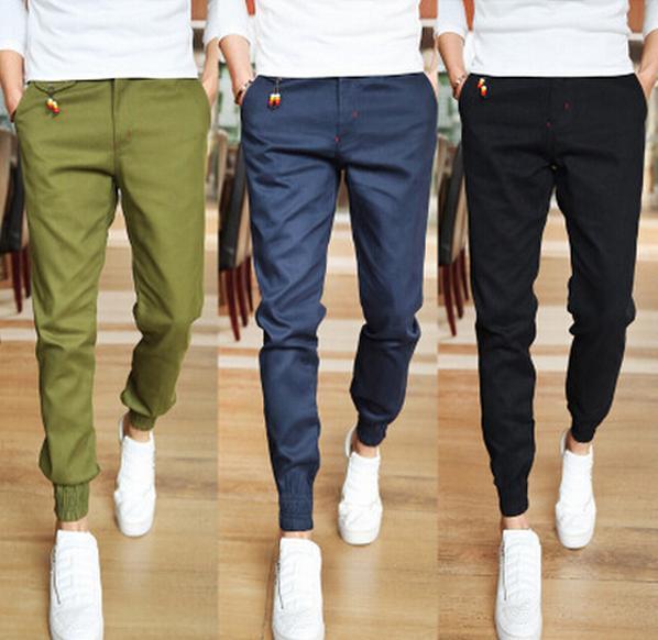 2015 Basculador Ajuste de La Moda Para Hombre Pantalones Casuales Pantalones Nuevos Negocios de Diseño Pantalones de Algodón de Alta Calidad Envío Libre