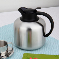 Free Shipping High Quality Double Wall Stainless Steel Vacuum Thermal Coffee Pots