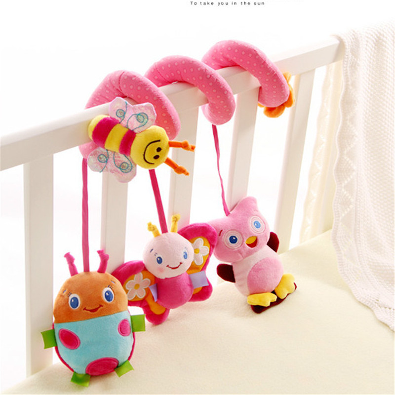 1pcs Sozzy Musical Multifunctional Car bed Hanging Bed Bell Baby toys Educational Toys Rattles for Kids