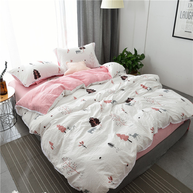 Super Soft Lace Bed Linen Quilt Cover Bedding Sets Full Queen King Size Bed  Sheets Pillow