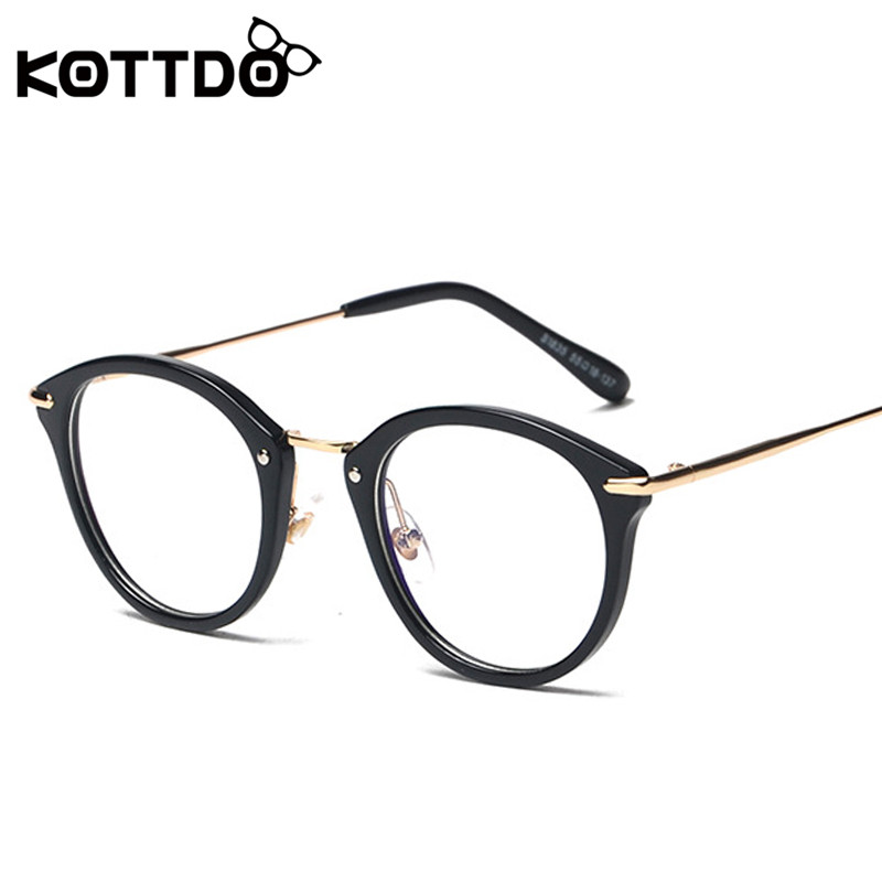 0cec8057b6f3 ... Women Retro Eyeglasses Frame Brand Metal Vintage Female Optical Clear  Myopia Eyewear Oculos KOTTDO Fashion Women Retro Eye Glasses Frame Men  Brand Metal ...