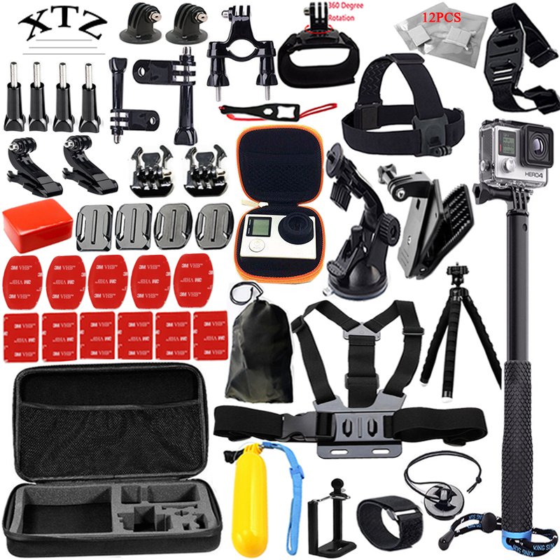 For Gopro hero 5 accessories set for go pro kit mount hero 4 3 2 1 Black Edition SJCAM M10 SJ5000 case xiaoyi 13K parkcity go 10 pro black экшн камера