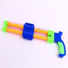 1pcs lengthened double nozzle gun child drifting pull-gun swimming toys Toy Guns new Double / Single Water Gun Children's toy