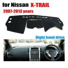 FUWAYDA Car dashboard cover mat for Nissan X-TRAIL 2007-2013 Right hand drive dashmat pad dash covers auto dashboard stickers