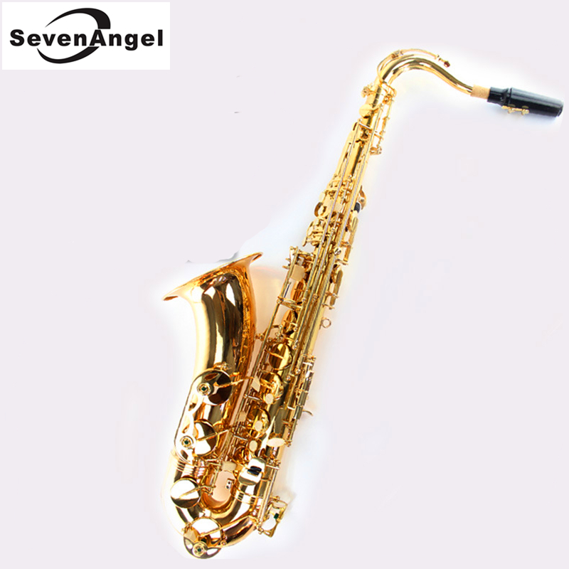 Tenor Bb Sax Wind Instrument Saxophone Western Instruments saxofone Gold Lacquer Saxe Professional Musical Instruments japan yanagisawa new t 992 b flat tenor saxophone top musical instrument tenor saxophone performances shipping