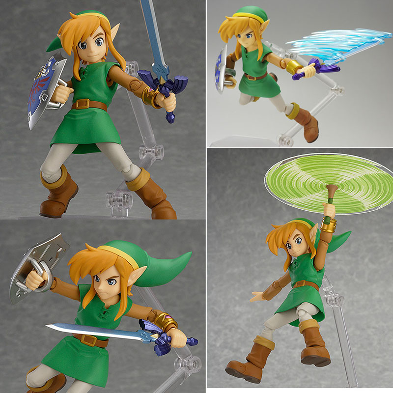 2 Types In Box The Legend of Zelda Figure Figma Ex-032 Figma 284 Link PVC Action Figures Collectible Model Toy Birthday Gift anime the legend of zelda 2 a link between worlds link figma 284 pvc action figure collectible model kids toys doll 10 5cm