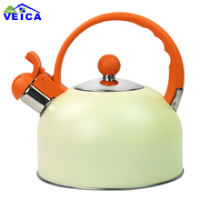 2017 Chaleira Hot Sale Stainless Steel 2.5l Water Kettle Induction Cooker Camping Kettles Furnace Stove Whistling Teapot Tools