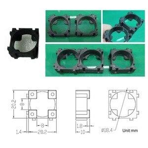 Image 5 - 100 ピース/ロットプラスチック 18650 バッテリーホルダーブラケット円筒 18650 ケース携帯ホルダー安全防振リチウムイオンバッテリーホルダー