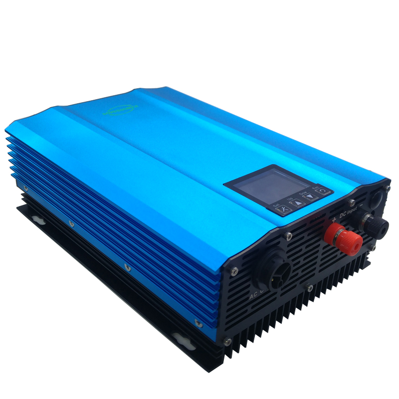 1200W power inverter on grid Color display DC to AC output power can be set pure sine wave home solar System High efficiency