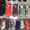 Nuevo en el Mini Estilo melissa Sandalias de Las Muchachas 2016 Del Verano zapatos de La Jalea de Doble Hebilla Sandalias de gladiador zapatos de Moda Para Niños zapatos de Bebé