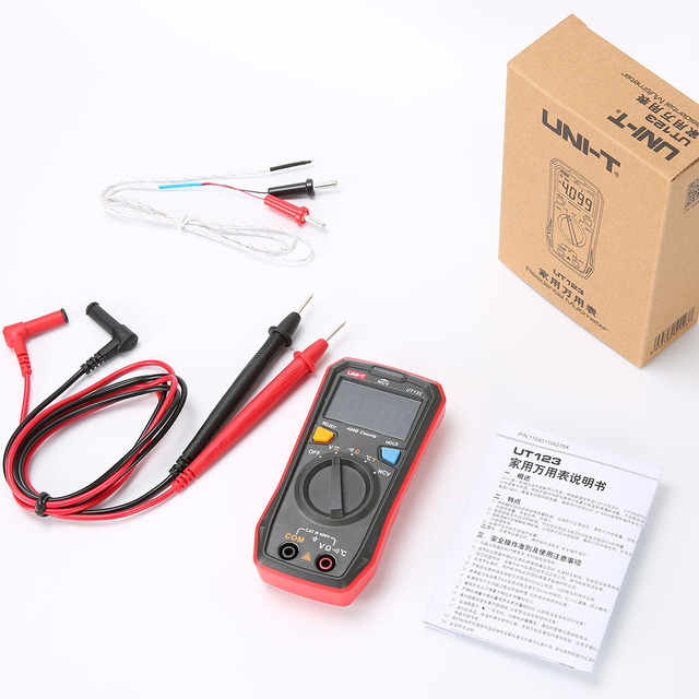 Neue UNI-T UT123 Wohn Multimeter HD ENTB Farbe Bildschirm AC/DC Strom Spannung Tester Batterie Erkennung Werkzeug