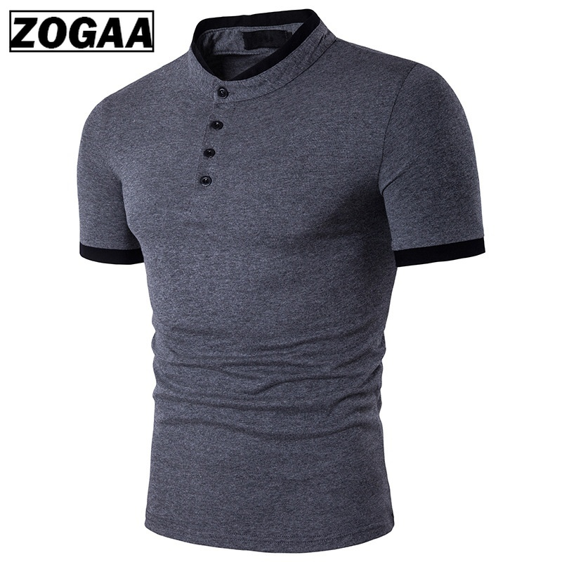 ZOGAA   Polo   Men's Shirt Cotton Short Sleeve Shirt Casual Shirts Summer Breathable Solid Male   Polo   Shirt Plus Size mens clothing