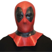 Deadpool Mask Cosplay Breathable Full Face Mask Halloween Deadpool Cosplay Prop Hood Helmet Accessory gift Soft latex