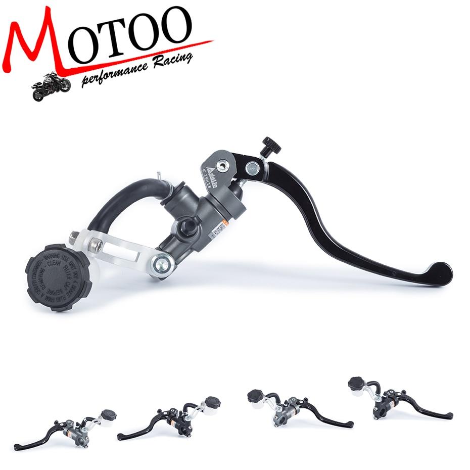 Motoo-frete grátis motocicleta 19x18 16x18 adelin freio da bomba de embreagem cilindro mestre alavanca alça para yamaha