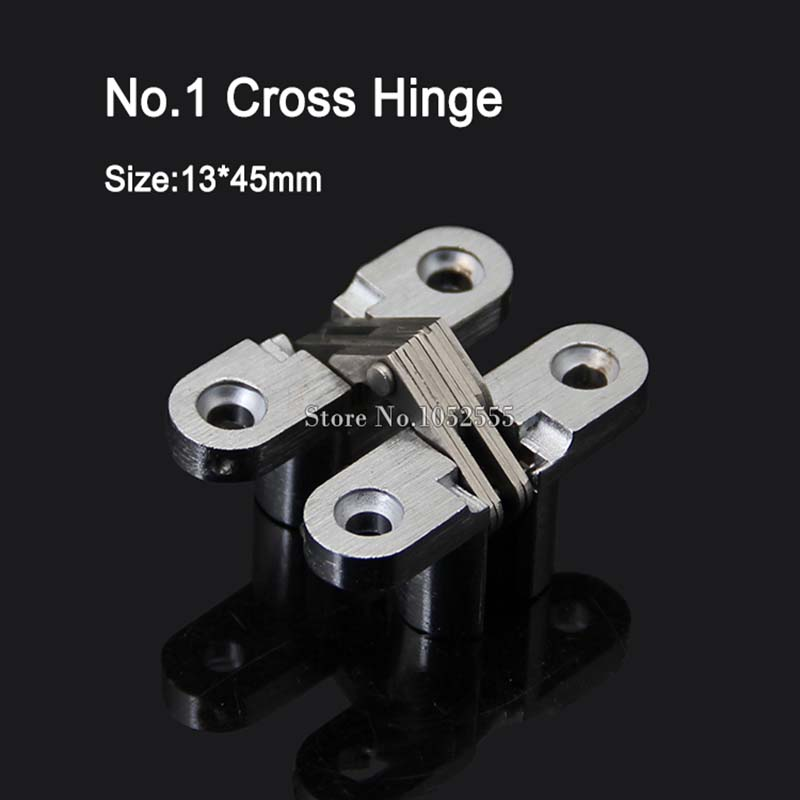 10pieces 13x45mm Invisible Concealed Cross Door Hinge Stainless Steel Hidden Hinges Bearing 6KG For Folding Door Hidden Door K95 10pieces 13x45mm invisible concealed cross door hinge stainless steel hidden hinges bearing 6kg for folding door hidden door k95