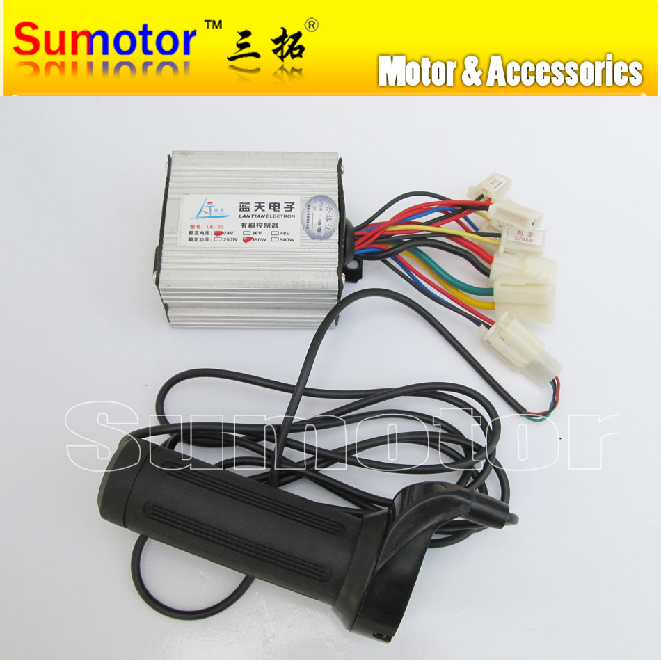 Electrical Motor Controllers : V w brush speed controller with handle for motor