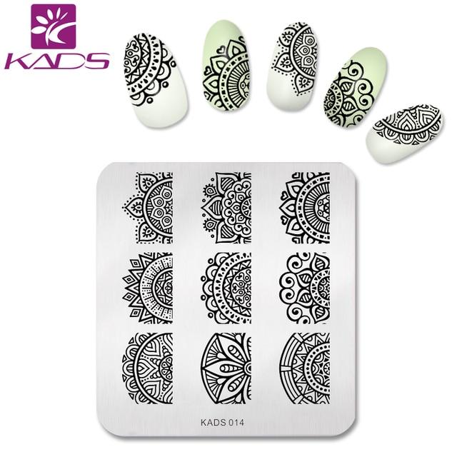 KADS New Full Beauty Lace Flower Nail Art Print Stamping Plates Nail ...