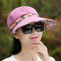 2016 Nuevo Verano Femenino Sombreros Mujeres Gorras Marea Lengua de Pato playa Plegable Del Sombrero Del Sol Gorra de Béisbol Del Sombrero Anti-Ultravioleta Ocasional Del Remiendo